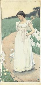 Eanger Irving Couse - Woman in a White Dress