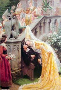 WJY England Ber/ühmte Malerei Godspeed von Edmund Blair Leighton Plakate Druck auf Leinwand Wandkunst Dekorative Bilder f/ür Wohnzimmer 60cm x90cm Kein Rahmen
