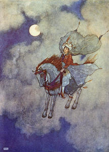 Edmund Dulac - Descent