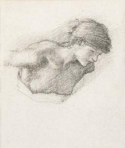 Edward Coley Burne-Jones - Figure study for -Love-s Wayfaring- or -The Car of Love-
