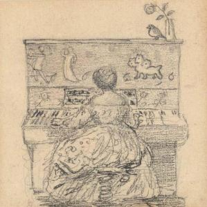 Edward Coley Burne-Jones - Georgiana Burne-Jones at the piano