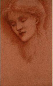 Edward Coley Burne-Jones - Head Of A Girl, Reputedly The Artist-s Daughter Margaret