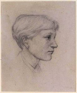 Edward Coley Burne-Jones - Portrait Of The Artist-s Son Philip