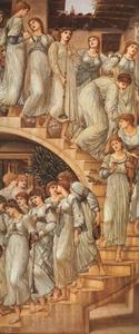 Edward Coley Burne-Jones - The Golden Stairs (aka 'The King's Wedding' or 'Music on the Stairs')