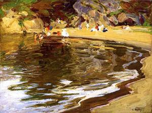 Edward Henry Potthast - Bathers in a Cove