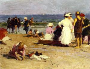 Edward Henry Potthast - Bathers in the Surf