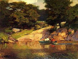 Edward Henry Potthast - Boating in Central Parkk