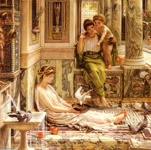 Edward John Poynter - Corner Of The Villa