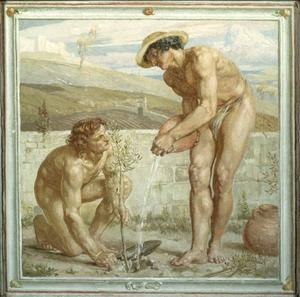 Edward John Poynter - Paul And Apollo