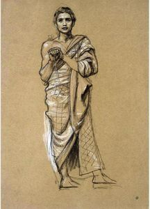 Edward John Poynter - Study For One Of The Queen Of Sheba's Attendants