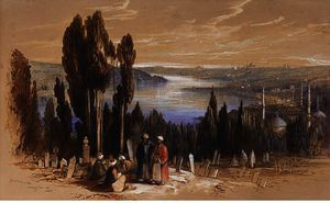 Edward Lear - Constantinople From Ayoub 1
