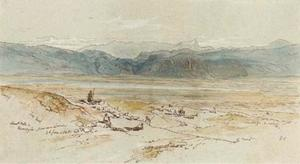 Edward Lear - Mount Oeta And Thermopylae From Near Lamia