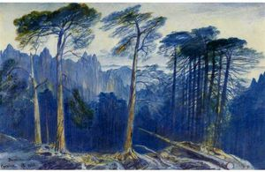 Edward Lear - The Pine Forest Of Bavella, Corsica