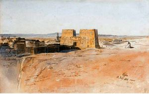 Edward Lear - View Of Edfu, Egypt