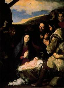 Jusepe De Ribera (Lo Spagnoletto) - Adoration of the Shepherds 1