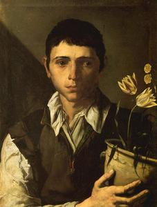 Jusepe De Ribera (Lo Spagnoletto) - Boy with potted flowers, smell