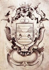 Jusepe De Ribera (Lo Spagnoletto) - Coat of arms of the Marquis of Tarifa