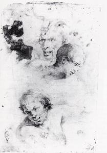 Jusepe De Ribera (Lo Spagnoletto) - Heads of satyrs and study of a young man