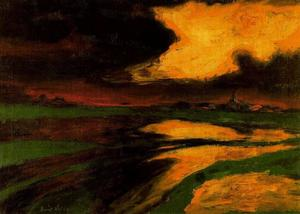 Emile Nolde - Autumn Sunset
