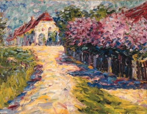 Blhende lilacs by Emile Nolde (1867-1956, Germany) | Oil Painting | WahooArt.com