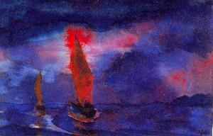 Emile Nolde - Blue Sea (Two Brown Sails)