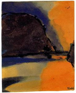 Emile Nolde - Brown Mountain on a Lake
