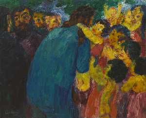 Emile Nolde - Christ among the Children