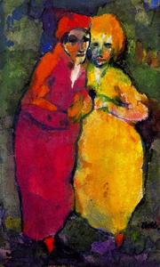 Emile Nolde - Couple (Red and Yellow)