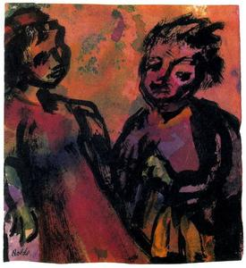 Emile Nolde - Couple (Reddish-brown)