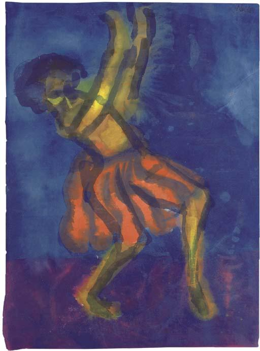 Dancer 1 by Emile Nolde (1867-1956, Germany) | Art Reproduction | WahooArt.com