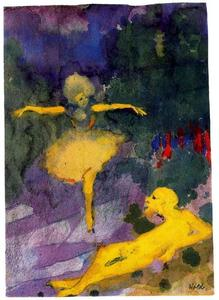 Emile Nolde - Dancer and Reclining Man