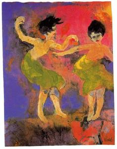 Emile Nolde - Dancing Women (with Green Skirts)