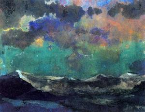 Emile Nolde - Dark Sea (Green Sky)