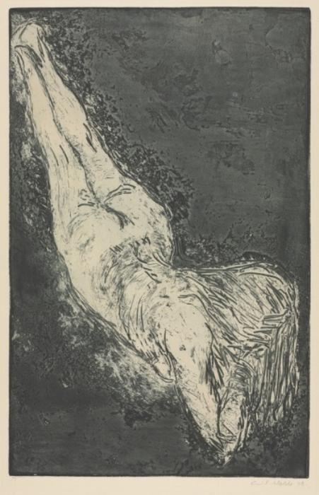 Diagonal Nude by Emile Nolde (1867-1956, Germany) | Museum Quality Reproductions | WahooArt.com