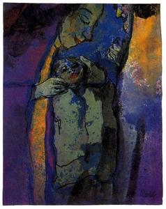 Emile Nolde - Family (Drak Blue and Green)