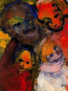 Emile Nolde - Family (with Two Children)