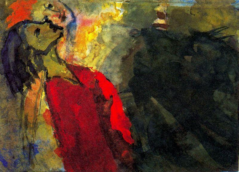 Figures Craning their Necks by Emile Nolde (1867-1956, Germany) |  | WahooArt.com