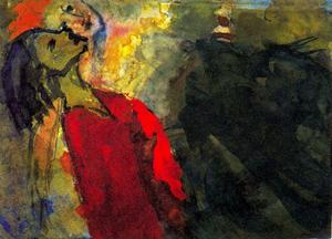 Emile Nolde - Figures Craning their Necks