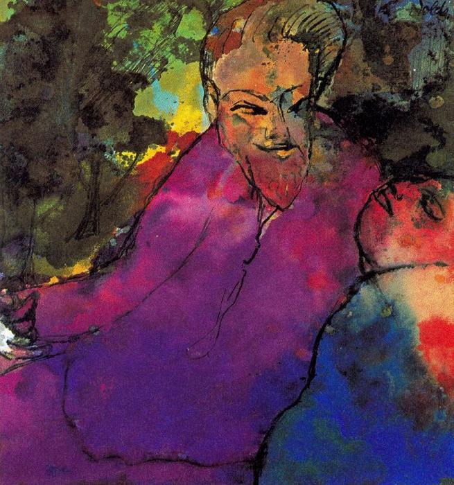 Grotesque Couple by Emile Nolde (1867-1956, Germany) |  | WahooArt.com