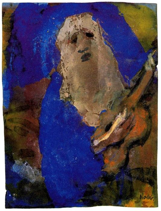 Hoary Old Man Singing by Emile Nolde (1867-1956, Germany) |  | WahooArt.com