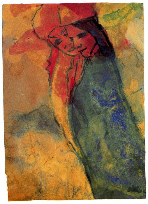 Hovering Couple by Emile Nolde (1867-1956, Germany) | Museum Quality Reproductions | WahooArt.com