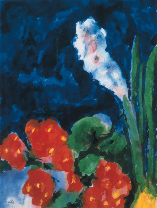 Hyacinth and begonia by Emile Nolde (1867-1956, Germany) |  | WahooArt.com