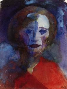 Emile Nolde - Lady in Red