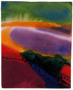 Emile Nolde - Landscape (Red-Yellow-Green)