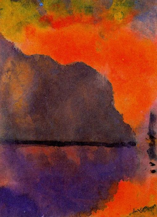 Life by the Sea (in Evening Light) by Emile Nolde (1867-1956, Germany) |  | WahooArt.com