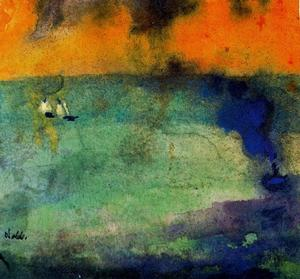 Emile Nolde - Light-flooded Sea (Green)
