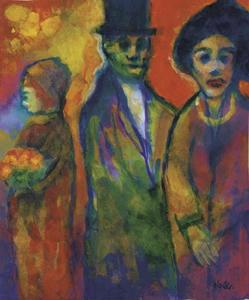 Emile Nolde - Man and two women 1