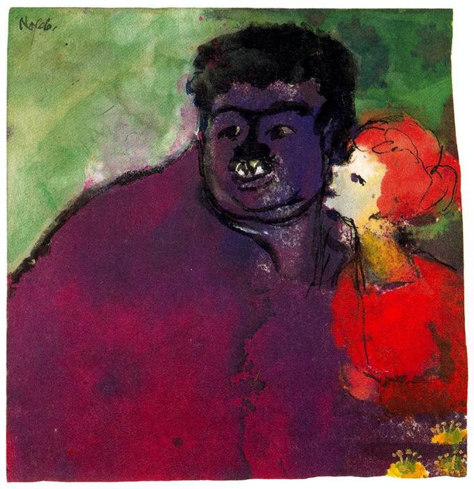 Mismatched Couple by Emile Nolde (1867-1956, Germany) |  | WahooArt.com