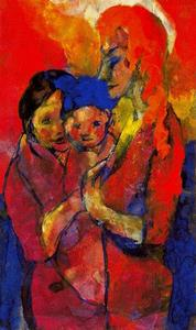 Emile Nolde - Mother with Two Children