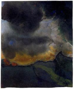 Emile Nolde - MOuntain Landscape with Dark Clouds